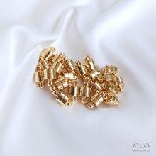 10 peças 14k ouro cooper banhado ímã fecho/gancho conector atacado para jóias diy colar pérola gancho descobertas