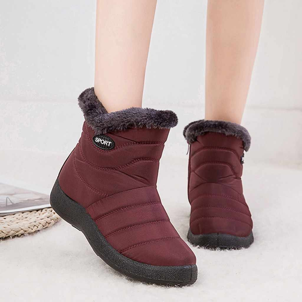 Warm Autumn and winter Boots Female Women Shoes Faux Suede Ankle Short Bootie For Women Plush Insole Snow Boots Footwear #816