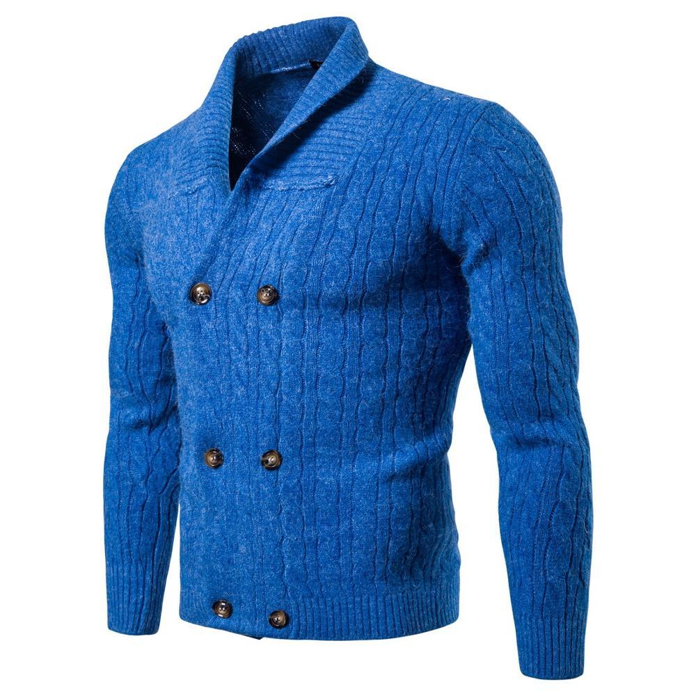 Casual Men's Sweater O-Neck Striped Slim Fit Knittwear 2019 Autumn Mens Sweater