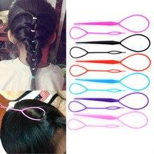 Multi-estilo de cabelo feminino torção estilo clipe vara bun maker diy ferramentas de trança de cabelo acessórios para o cabelo trança diy penteado