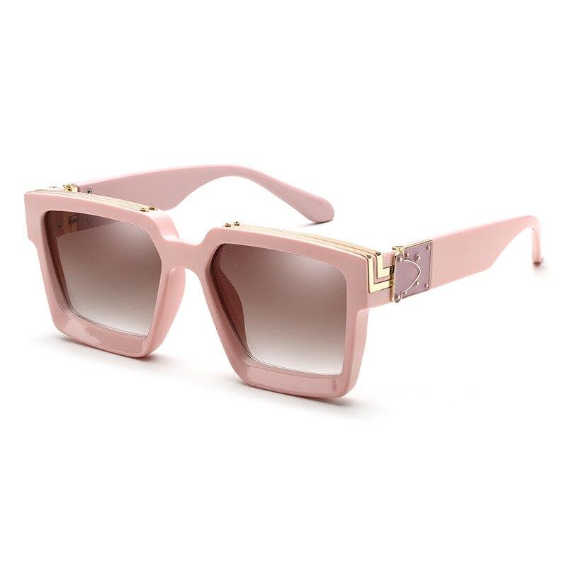 Новинка 2020, модные роскошные брендовые Дизайнерские Большие Квадратные Солнцезащитные очки, женские и мужские защитные очки в большой опра...