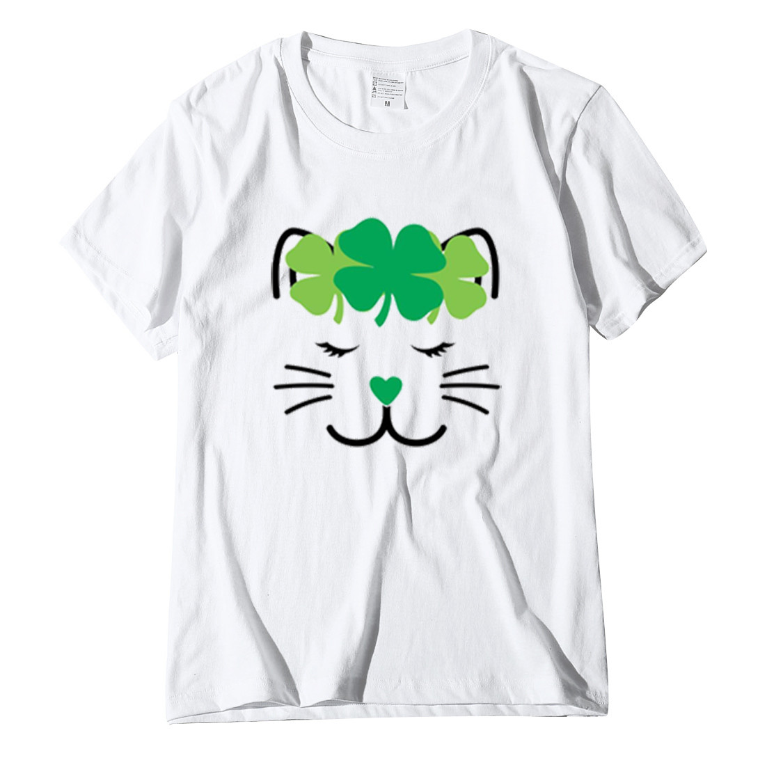 Women's ST. Patrick's Day T-Shirt New Green O-Neck Short Sleeve Tunics Fashion Spring Summer Leisure Loose Everyday куртка YL5