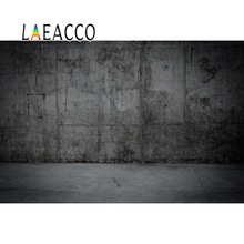 Laeacco Old Dark Wall Cement Party Baby Portrait Photography Backgrounds Customized Photographic Backdrops For Photo Studio