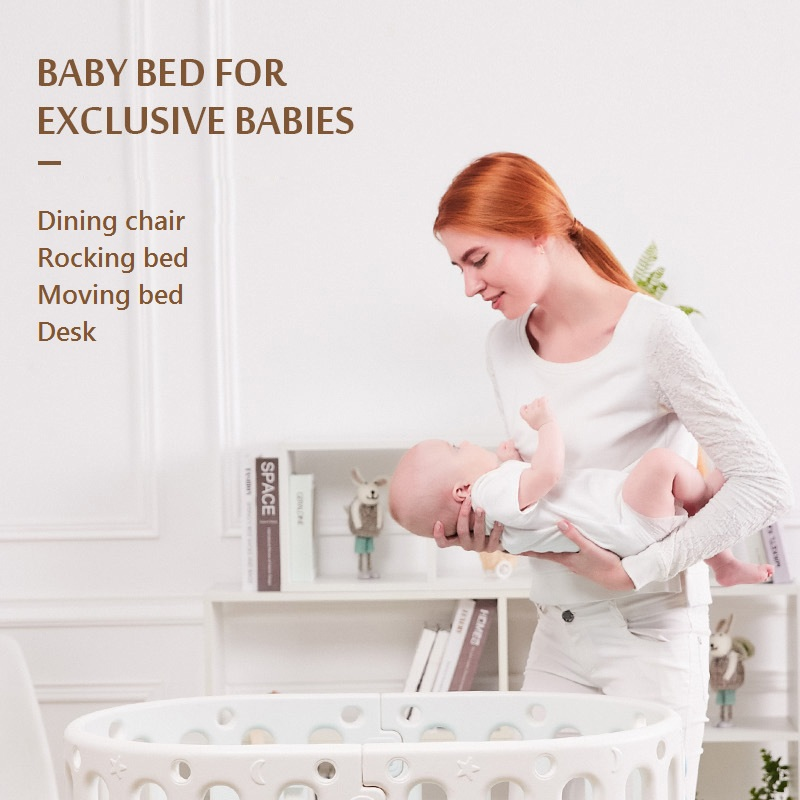 Multifunctional Children's Bed Learning Table Baby Bed  Crib  Foldable Rocking Bed Children's Dining Chair