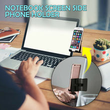 Notebook Screen Side Phone Holder Clip on Monitor for Laptop