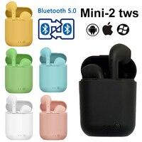 Mini2 i7S TWS auricolare Bluetooth Wireless HiFi sound Stereo V5.0 cuffie sport auricolari con microfono per tutti gli smartphone i9S i11