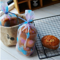 900Pcs/Lot 12*20cm Scrub Clear Top Open Poly Bag Plastic Bubble Frosted Flat Bags Party Bread Cake Cookies Packaging Bag Pouch