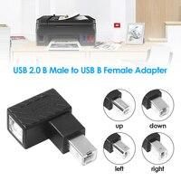 Uitbreiding Adapter Converter Connector Usb 2.0 Type B Man-vrouw Extension Adapter Haaks 90 Graden Converter