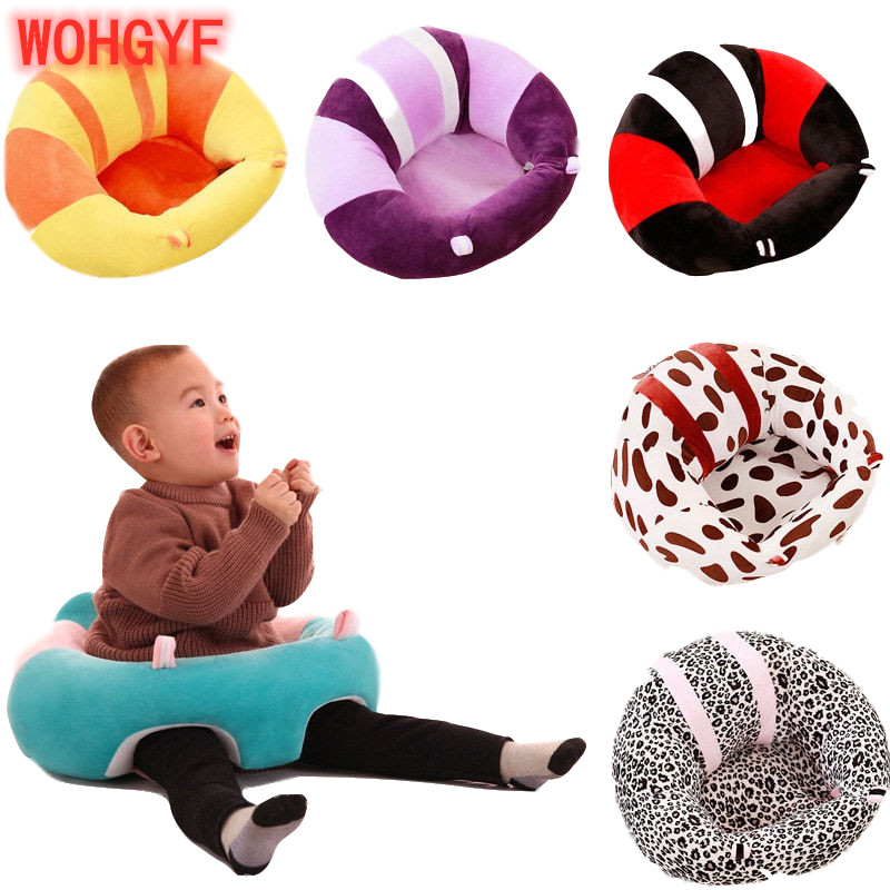 Infant Safety Seat Soft Stuffed Colored Cotton Baby Sofa Plush Baby Cushion Feeding Chair Learning To Sit Kids Back Support Toy