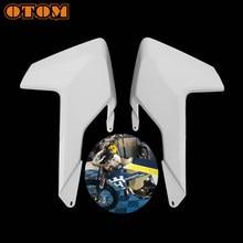 Otom kit de spoiler lateral e dianteiro, radiador para motocicleta husqvarna fc250 fc350 fc450 fx350 fx450 tc125 tc250 tx300