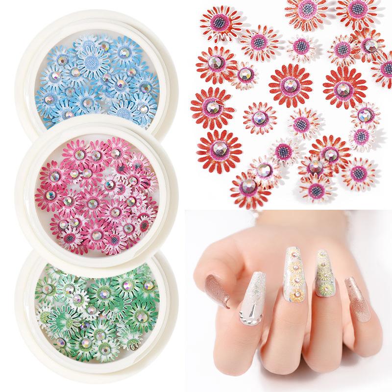 2020 Новый 3d цвет трехмерная Ногтей diamond Дейзи цветок блестки