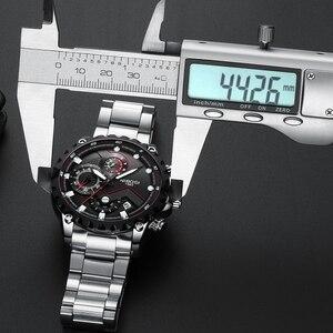 Image 5 - NIBOSI männer Sport Uhr Quarz Armbanduhren Wasserdichte Große Mode Uhren Edelstahl Männer Uhr 2021 Relogio Masculino
