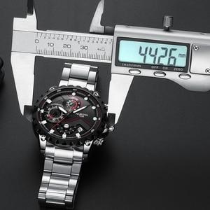 Image 5 - NIBOSI reloj deportivo para hombre, de pulsera, de cuarzo, resistente al agua, grande a la moda, de acero inoxidable, Masculino, 2021