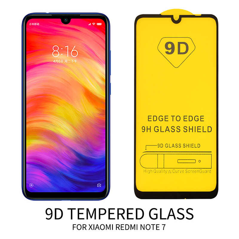9D HD  Cover Glass for Redmi Note 7 6 5 Pro Toughed Anti-Scratch Sensitive Smooth Smartphone Glass for Redmi Note 4X 4