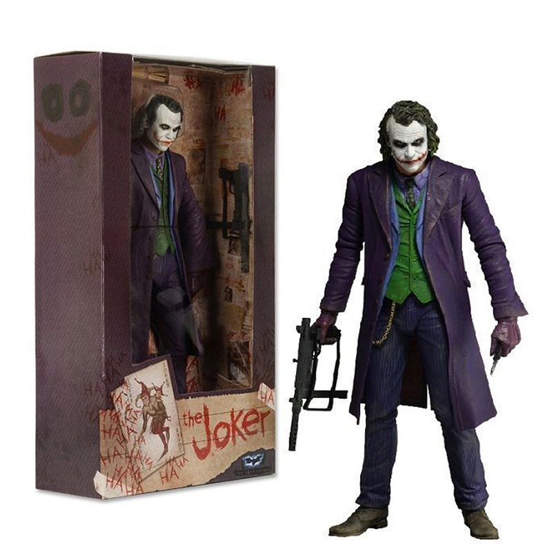 18cm 7inch THE JOKER HEATH LEDGER DC COMICS PVC Action Figure Collectable Model Toy Gift