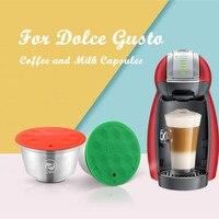 Icafiras aço inoxidável para dolce gusto crema café filtros copo recarregáveis reutilizáveis para nescafe dolci gusto cápsula de café pod|Filtros de café|   -