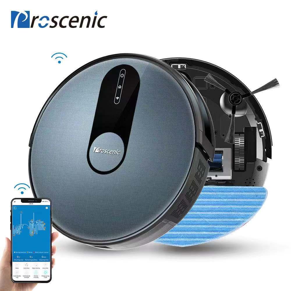 Proscenic 820P робот-пылесос умный планируемый 1800Pa всасывание с влажной уборкой для дома очиститель ковров моющий умный робот