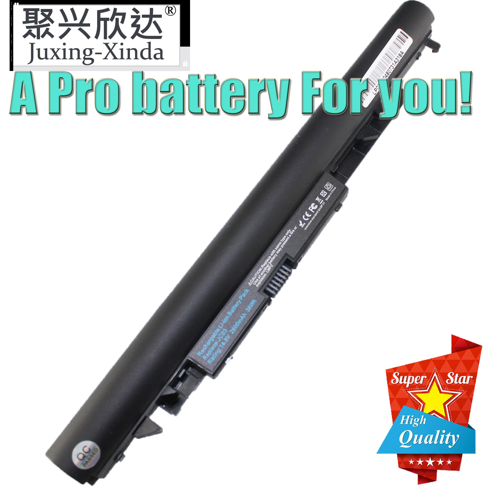 JC04 JC03 Notebook Battery Replacement for HP 15-bs 15-bw 17-bs Series Laptop fits HP HSTNN-HB7X HSTNN-LB7V HSTNN-LB7W Spare 919682-121 919700-850 919701-850 TPN-C129 C130 Q186 W129 W130 Battery