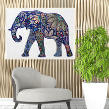 5d алмазная картина Многоцветный Кристалл Слон печатная часть