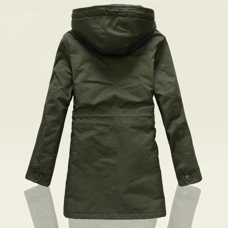 Casaco casual masculino com capuz clássico do exército verde preto outwear trench coat para homem inverno windbreaker zíper M-4XL casacos casaco