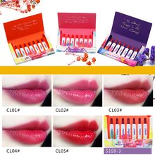 ZHENDUO 7pcs/set  Silky long lasting Moisturizing match lipstick makeup set Matte red lip stick Waterproof