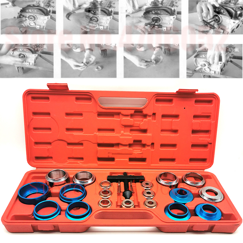 Crank Seal Remover/Installer Kit Camshaft Oil Seal Disassembly Assembly Tools Shaft Installer Extractor Auto Removal Repair Set