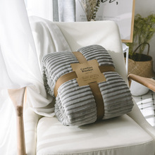 Nordic Pink White Blue Gray Cotton Twist Style Handmade Soft Bed Plaids Knit Sofa Throw Blanket