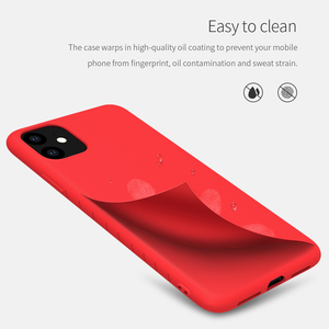 Image 2 - עבור iphone 11 2019 כיסוי Nillkin טהור רך נוזל סיליקון גומי עטוף מקרה אנטי הלם טלפון מעטפת עבור iphone 11 Pro מקסימום