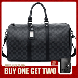 VICUNA POLO تصميم كلاسيكي منقوش للرجال حقيبة سفر جلدية ماركة جلدية رجال الأعمال حقيبة بين عشية وضحاها حمل الحقائب على الأمتعة