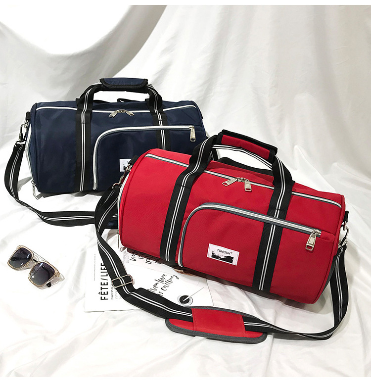 New Product Travel Fitness Bag, Cylinder Bag With Shoe Position, Short-distance Luggage Bags One-shoulder Travel Bags