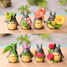 Ornaments Car-Accessories Chinchillas Totoro Doll Potted-Decoration Micro-Landscape-Plant