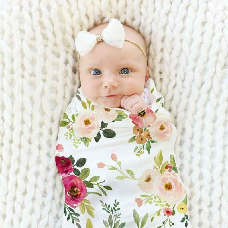 Pudcoco Heißer Mode Weiche Baby, Kleinkind Neugeborenen Jungen Mädchen Floral Swaddle Wrap Blanket Schöne Schlafsack Tuch
