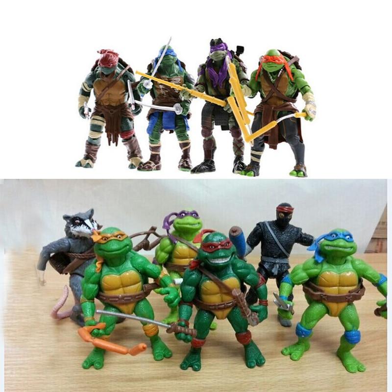 10Pcs Tartaruga Turtles Figure Toys Kids Boys Cartoon Amine Furnishing Articles Ninjas Figures Character Figurine Toy Gifts