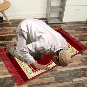 Image 3 - 80x120cm Cashmere Like Muslim Islamic Muslim Prayer Carpet Portable Rug Islamic Arab Ramadan Prayer Mat