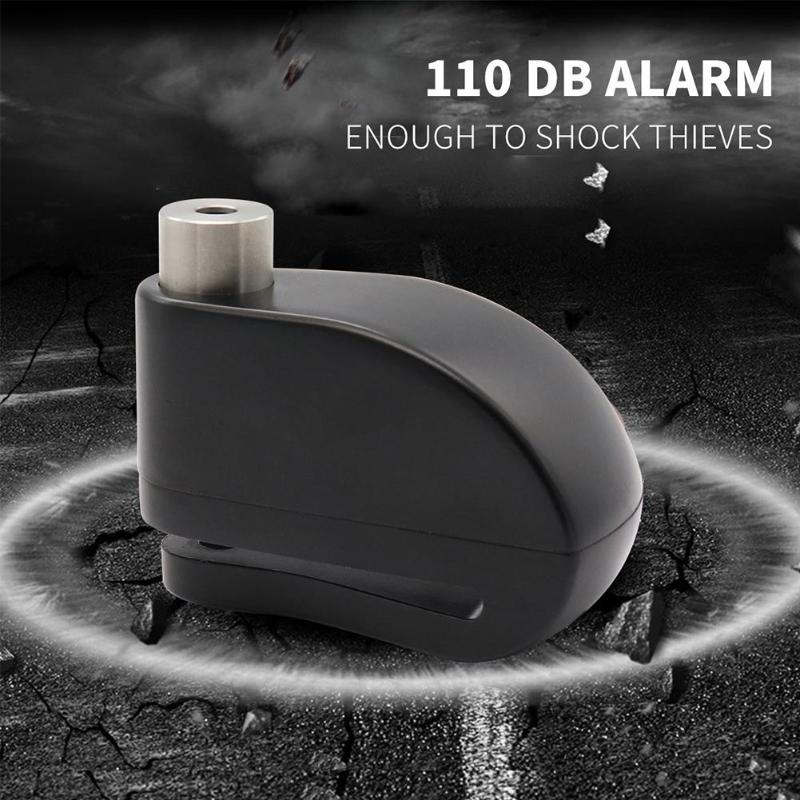 Motorcycle Alarm Lock Convenient Keyless Hardened Treatment Security Anti Theft Scooter Bike Disc Brake Lock And Bag
