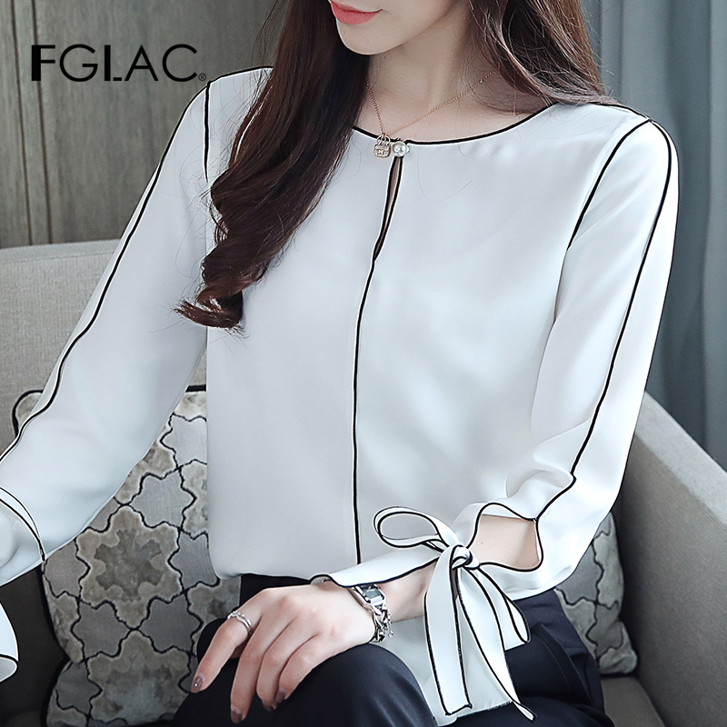 Blusas Mujer De Moda 2019 Chiffon Summer Blouse Women Tops And Blouses Casual Long Sleeve Shirt Office Lady Blouse Shirt Clothes