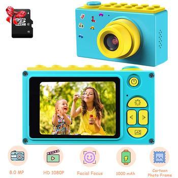 Dziecko aparat cyfrowy Mini 2 Cal ekran aparat dziecięcy 8MP HD aparat cyfrowy z karta Micro SD inteligentne zabawki dla dzieci aparat fotograficzny prezent tanie i dobre opinie Z tworzywa sztucznego 3 lat 600 mAh 3 7V Unisex YT004 Edukacyjne Not suitable for under 3 years old Zabawki kamery 3264*2448