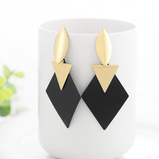 black and gold fantasy earrings 2