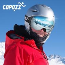 COPOZZ 2019 Frameless Ski Goggles With Snow Mask Men Women Snowboard Goggle Magnetic UV400 Protection Anti fog Skiing Glasses