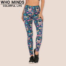 High Waist Sloths Sexy Legging Anti Cellulite Elasticity Fashion Push Up Fitness Gym Leggings Women Pants Stacked Slim Legins