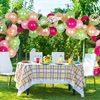 Tropical decoración para fiesta hawaiana diseño Tropical Hawái fiesta globo cadena verano Flamingo fiesta Luau decoración de la boda de Aloha piña