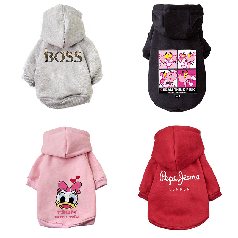 Cartoon Dog Hoodie Winter Pet Dog Clothes For Dogs Coat Jacket Cotton Ropa Perro French Bulldog Clothing For Dogs Pets Clothing Ocean & Earth