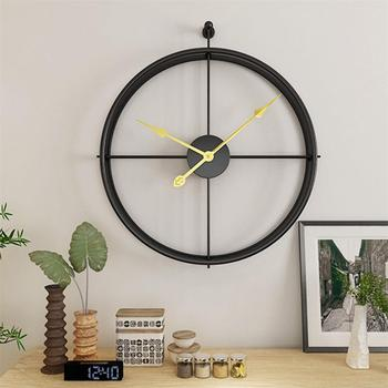 59x52cm Large Silent Wall Clock Modern Design Clocks For Home Decor Office European Style Hanging Wall Watch Clocks