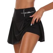 Skort-Skirt Sport Workout-Shorts Athletic Tennis Yoga Fitness Golf Running Active Einfarbig