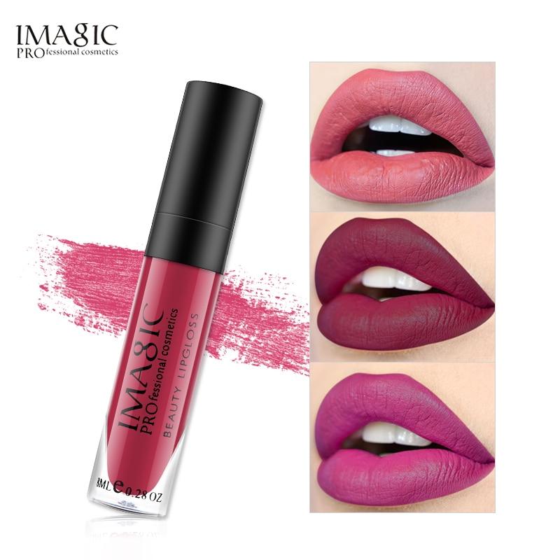 IMAGIC матовый блеск для губ, набор редких оттенков для губ, Матовая жидкая губная помада, водостойкий клубничный стойкий блеск FB, блеск для губ