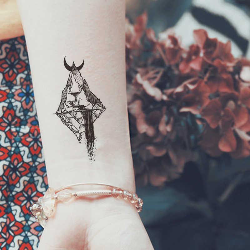 Waterdichte Tijdelijke Tattoos Sexy Fake Tattoo Body Art Mouw Tatoeages Voor Mannen Zwart Party Stuff Geometrische Tattoo Stickers