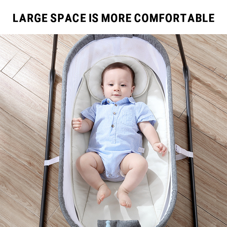Hb099e6eb046349858edf6872a5501e78I Baby Electric Rocking Chair Swing Comforter Smart Placate Device Artifact Electric Cradle Trottie Nursling Bed Crib