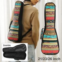 21/23/26 Inch Double Strap Soft Padded Oxford Cloth Ukulele Gig Bag Musical Stringed Instrument Holder Accessories Organizer