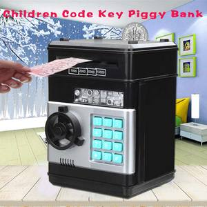 Electronic Password Money Box Code Key Lock Piggy Bank Automatic Coins Cash Saving Money Box Counter Mini Safe Box Child Gift