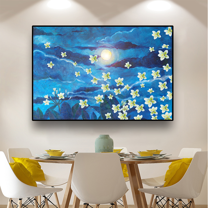 Nordic Style Abstract Flowers Wall Art  Canvas Painting Posters and Prints Home Decor Wall Picture for Living Room Decoration